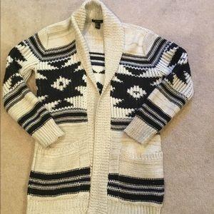 Shawl style cardigan. F21. Women's size small.
